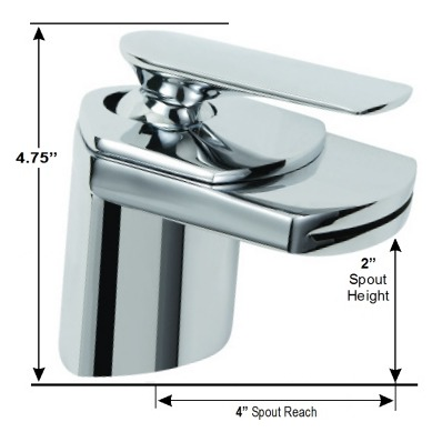 Waterfall Faucet Dimensions